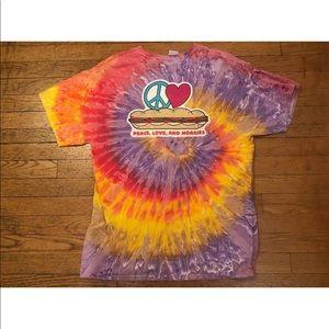 WAWA HOAGIEFEST 2015 Marble Tie Dye Large T-Shirt